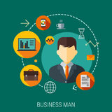 Business customers service and support concept. Vector icons on the theme of business people in a flat style Stock Photography