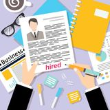 Business cv background Stock Photography