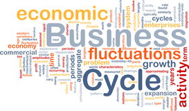 Business cycle is bone background concept Royalty Free Stock Photo