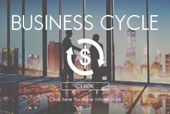 Business Cycle Economy Financial Concept Stock Photography