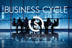 Business Cycle Economy Financial Concept Royalty Free Stock Photos