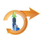 Business cycle and graph chart Royalty Free Stock Image