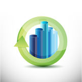 Business cycle illustration design Stock Photos