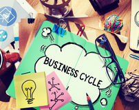 Business Cycle Income Profit Loss Recession Concept Stock Images