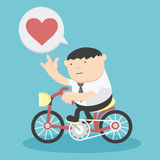 Business cycling show love Stock Image