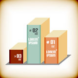 Business 3d geometrical banner. Can be used for infographics , graphic , advertise layout Royalty Free Stock Photo