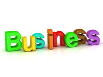 Business 3d word colour bright letter Stock Image