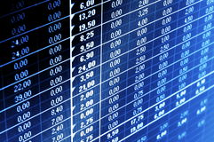 Business data Stock Photography