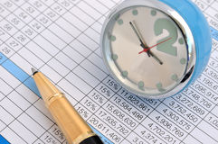 Business data and analysis Stock Image