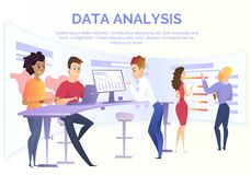 Data Analysis Team Cartoon Vector Concept vector illustration