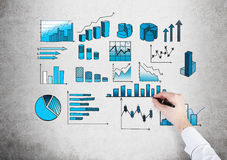 Business data analysis Royalty Free Stock Photos