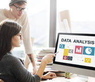 Business Data Analysis Presentation Information Concept.  stock images