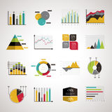 Business data analyze elements set Royalty Free Stock Image