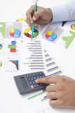 Business Data Analyzing Stock Image