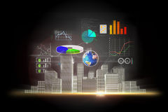Business data background Royalty Free Stock Photography