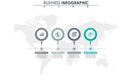 Business data, chart. Abstract elements of graph, diagram with 4 steps, strategy, options, parts or processes. Vector. Business template for presentation Royalty Free Stock Image