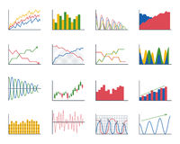 Business data graph analytics elements bar pie charts diagrams and flat icon infographics design isolated presentation Royalty Free Stock Image