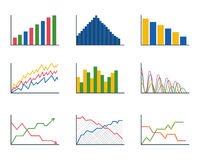 Business data graph analytics elements bar pie charts diagrams and flat icon infographics design isolated presentation Royalty Free Stock Photo