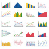Business data graph analytics  elements Stock Photography