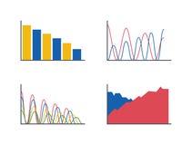 Business data graph analytics vector Stock Photos