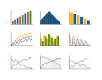 Business data graph analytics vector Royalty Free Stock Photography