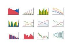 Business data graph analytics vector Stock Photography