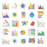 Business data graph analytics vector elements Stock Images