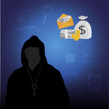 Business data has been encrypted. vector illustration. Royalty Free Stock Photos
