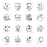 Business and Data Management Line Vector Icons. Gripping visuals with enticing graphics and knowledgeable concepts, this pack of business and data management Stock Photography