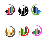 Business data market charts graphs Royalty Free Stock Photo