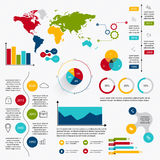 Business data market elements dot bar pie charts diagrams and gr. Aphs flat icons set. Can be used for info graphics, graphic or website layout vector, numbered Stock Images