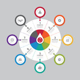 Business data process chart. Abstract elements of graph, diagram stock illustration