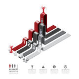 Business data process chart. Abstract elements of graph, diagram vector illustration