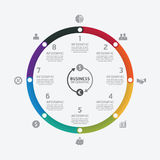 Business data process chart. Abstract elements of graph, diagram Stock Photos