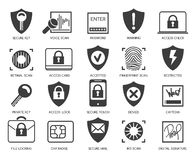 Business data security icons Stock Images