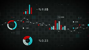 Business Data Tracking Black stock footage