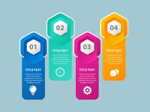 Business data visualization. Abstract elements of graph, diagram with 4 steps. - Vector vector illustration