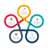 Abstract felements of cycle diagram with 5 steps. Business data visualization. Abstract felements of cycle diagram with 5 steps, options, parts or processes stock illustration