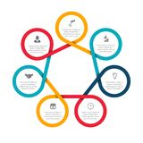 Abstract felements of cycle diagram with 7 steps. Business data visualization. Abstract felements of cycle diagram with 7 steps, options, parts or processes vector illustration