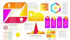 Business data visualization. Process chart. Abstract elements of. Graph, diagram with steps, options, parts or processes. Vector business template for royalty free illustration
