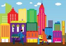 Business Day dans la ville Image libre de droits