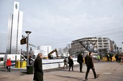 Business day in Dusseldorf !!!. City of Germany Stock Image