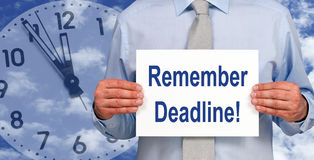 Business deadline background Stock Photography