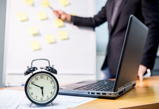Business deadline and presentation on meeting Royalty Free Stock Photos
