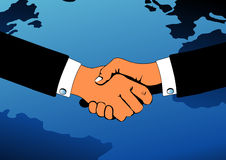 Business handshake illustration. An illustration of a pair of business people shaking hands Royalty Free Stock Image