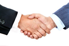 Business Deal. Two business men shaking hand Stock Images