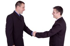 Business deal. Photo of a two young business mens...a happy deal Royalty Free Stock Photos