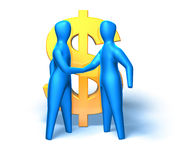 Business deal. Dollar sign, 3D generated Stock Image