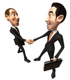 Business deal. Dollar sign, 3D generated Stock Photo