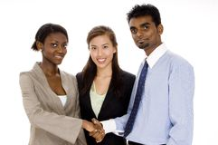 Business Deal. A business deal is sealed with a handshake Royalty Free Stock Photos